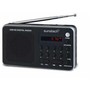 Radio Digital Sunstech Rpds32sl Usb-Sd Plata