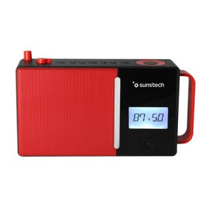Radio Portatil Sunstech Rpds500rd Bluetooth Usb Vermella