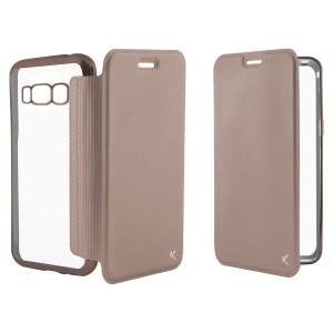 Funda Folio Metall Ksix Tpu Galaxy S8+ Rosa Daurat