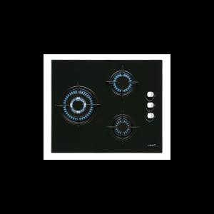 Placa Vidre-Gas Cata Ci6021bk 3f 59cm Negre